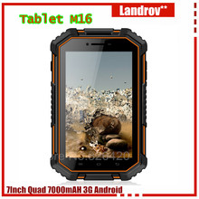 "Original Rugged Tablet PC Phone M16 quad core 4G LTE 7"" IP67 Outdoor shockproof waterproof 7000mAH 2G RAM Android T70(China)"
