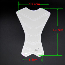 Free Shipping Motorcycle Transparent White Carbon Fiber Resin Tank Pad Protector Ivory High Quality Imported Materials QJC2124