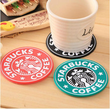 9.5cm Silicone Coasters Cup thermo Cushion Holder Starbuck sea-maid coffee Coasters Cup Mat