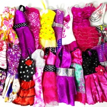 Randomly Pick 14 pcs/lot Doll Clothing Sets Fashionable Clothes Casual Dress Suits For Barbie Doll Dress Best Gift Baby Toys(China)