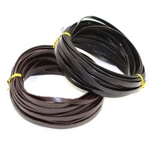 10 m/piece (3mm 5mm width leather cord) 1mm Thin genuine cow leather cord for Bracelet necklace Bags Accessories