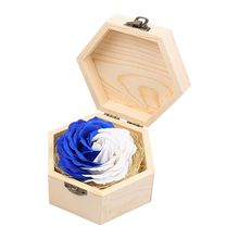 Soap Flowers Gifts box for birthday Gifts Teacher's Gifts(Blue+White)(China)