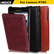 iMUCA for lenovo p780 Cases Covers Flip for lenovo p780 P780 Shell  Phone cases Skin Cases Holster for lenovo p780  black bags