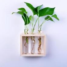 Hanging Flower Planter Vase Tube in Stand Hydroponic Pot Home Wedding Decor