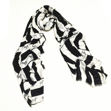 ZA women fiber adhesive soft smooth fashion the zebra printed scarf new