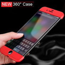 Ultra Slim 360 Degrees Full Body Protection Case Cove for capinhas iphone 6 6s 7 plus + 9H Tempered Glass accessories capa para