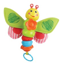 Baby Flashing Butterfly Rattle Toy Kids Plush Doll Mobile Music Hanging Bed Bell Car Stoller Brinquedos Baby