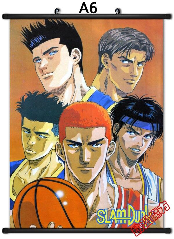 Cloth Poster Wall Scroll SLAM DUNK Hanamichi Sakuragi Rukawa Kaede Team 40x60cm