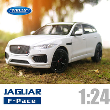 New WELLY 1/24 Scale UK JAGUAR F-Pace SUV Diecast Metal Car Model Toy For Gift Kids Collection Original Box Free Shipping(China)
