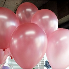 2016 10inch 1.2g Pink Latex balloon Helium Thickening Pearl balloons Wedding Party Birthday Decoration Balls Child Toys Gifts