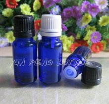 200/lot 10ml blue empty essential oil glass bottle with plastic cap 10ml blue glass bottle,cosmetic packaging