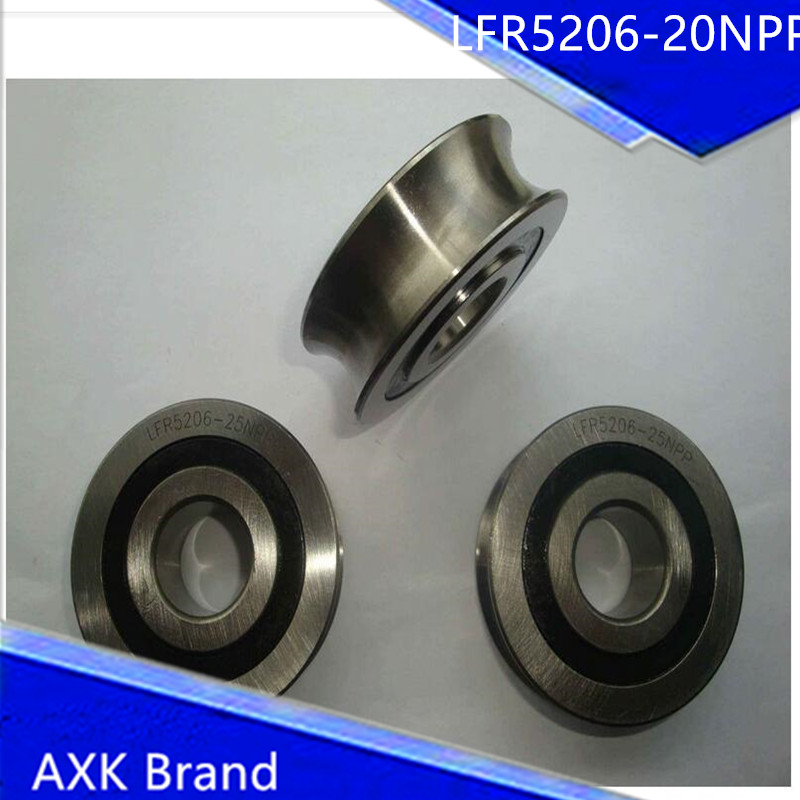 1PCS LFR5206-20NPP LFR 5206-20 NPP Track rollers double row angular contact ball bearings Gothic arch raceway groove<br><br>Aliexpress