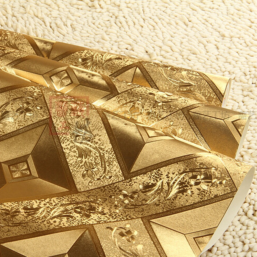 beibehang foil gold wallpaper for bedroom living room safa wall paper roll papel de parede 3d papier peint Wall covering Decor<br>