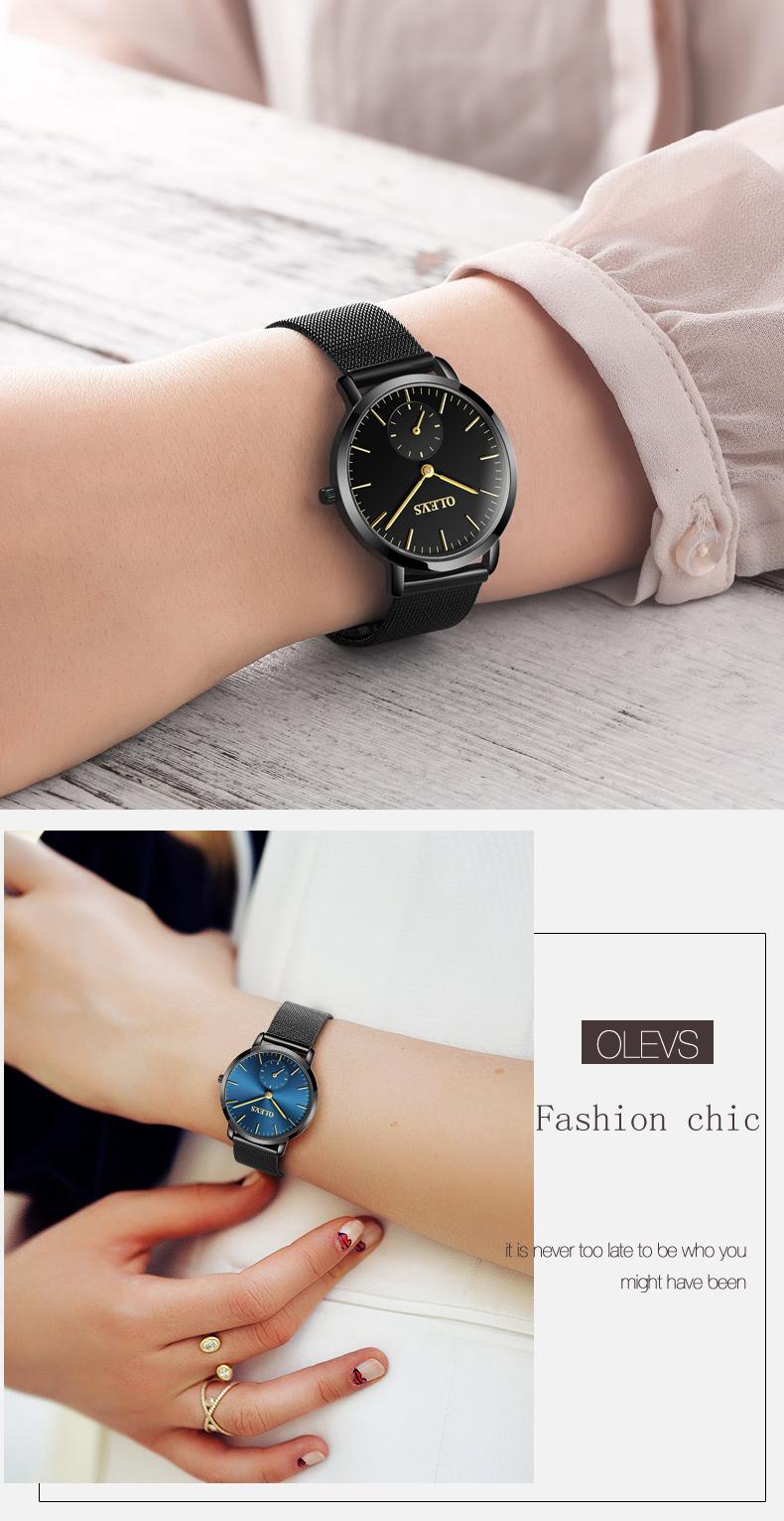 HTB1SyChSpXXXXc6XVXXq6xXFXXXB - OLEVS Luxury Watches Women's Rose Gold Casual Quartz Watch Stainless Steel Watch Water Resistant Clock relojes hombre 2017 saat