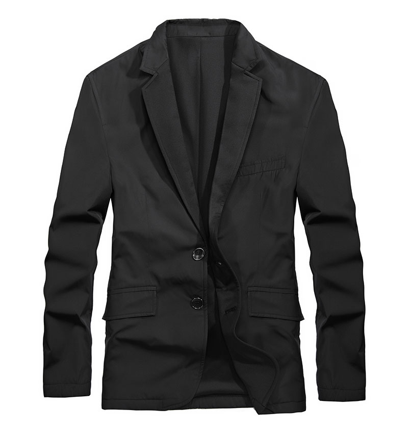 2017 New Arrival Brand Clothing Men Jacket M~3XL Overcoat Slim Fit Casual Blazer Jacket Coats CLOTHES Long Sleeve Solid Color (3)