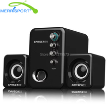 2.1 Speaker System with Subwoofer for PC, Computer, Laptop, Smartphones, Headphone, MP3 MP4 Players,Tablets, Gaming & HDTV Black(China)