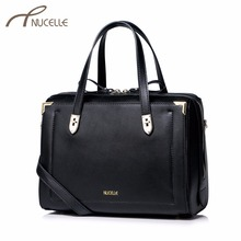 Nucelle Women Split Leather Handbag Casual Ladies Boston Leather Tote Messenger Purse Female Leisure Corssbody Bags NZ4933