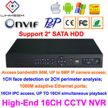 Lihmsek 16CH CCTV IP NVR 1080P Support ONVIF P2P Kinds of Mobile Viewing Free Client Software 16 Channels Security Network DVR