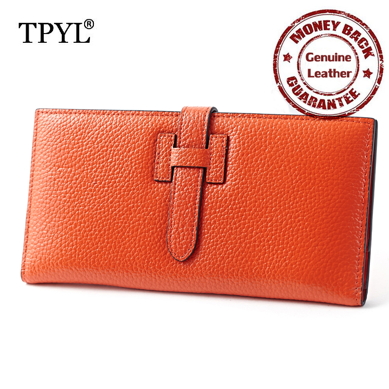 Famous Brand H Hasp 2016 Newest Design Super Thin Luxurious Genuine Leather Long Folio Women Clutch Wallets Purses Factory Price<br><br>Aliexpress