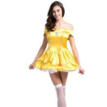 Adult snow white halloween costume dress maid dress cosplay sissy dress sexy halloween costume for women princess dress adults