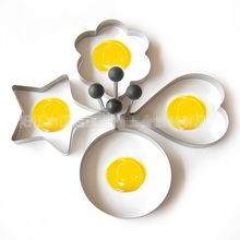 Stainless Steel Pancake Mould Mold Ring Cooking Fried Egg Shaper Kitchen Tools 2pcs