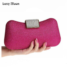 Buy Luxy Moon Dumpling Shape clutch bag Diamond Evening Bag Clutch Party purse Wild Ladies Fashion Handbag Mini Night Bag Chain for $29.89 in AliExpress store