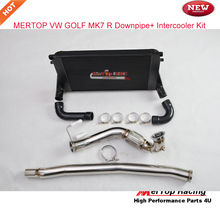 Mertop Race 3'' Catless Turbo Stainless Downpipe+ Intercooler kits  for Aud* A3/S3 / VW Golf  R MK7 1.8T 2.0T TSI
