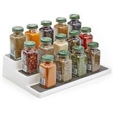 Kitchen Organizer Spice Rack 3 Tier Shelf Holder Spice Jar Rack Cupboard Bedroom Cosmetics Display Stand Storage Holder