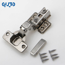 inset hinge 304 Stainless steel Embed Hydraulic furniture hinge conceal adjustable inset kitchen cabinet hinges(China)