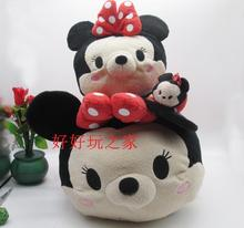 Big Original 58cm TSUM TSUM Minnie Mouse Mickey Mouse Bear Cute Biggest Stuff Plush Toy Girl Birthday Gift