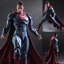 Play Arts Kai Batman v Superman Dawn of Justice Super Man Action Figure High Quality Collection For Collector China Version