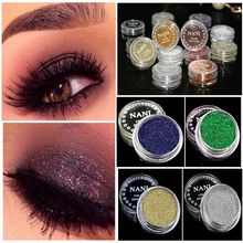 4PCs Sexy Fashion Popular Ladies Women Eyeshadow Loose Glitter Powder Pigment Long Lasting Mineral Spangle Makeup Eyeshadow Hot