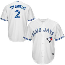 MLB Men's Toronto Blue Jays Troy Tulowitzki Baseball White Home Cool Base Player Jersey(China)