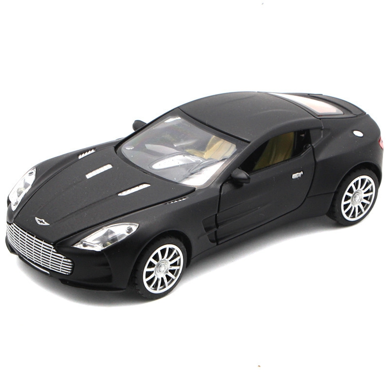 1:32 kids toys aston martin one-77 metal toy cars model kids pull back car miniatures gifts children