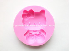 New! Free Shipping Cat Shaped Silicone Mold Cake Decoration Fondant Cake 3D Food Grade Silicone Mould 201(China)