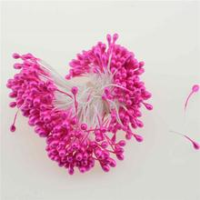 Free shipping 300pcs/lot Artificial Flower Double Heads Stamen Pearlized Craft Cards Cakes Decor Floral DIY wreath accessories