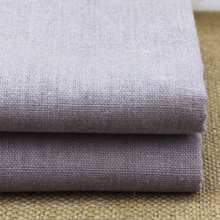 sold by meter cotton linen fabric for pants trousers solid gray linen material for sofa cover table cloth