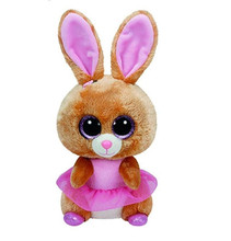 1pc15cm Hot Sale Ty Beanie Boos Big Eyes Pink rabbit Plush Toy Doll Stuffed Animal Cute Plush Toy Kids Toy