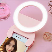New Arrival 3500K-5600K Smartphone LED Ring Selfie Light Night Darkness Selfie Enhancing Photography for iPhone Samsung(China)