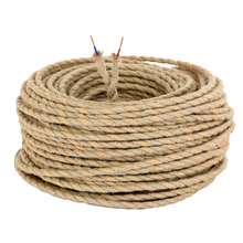 8m Vintage Wrie Hemp Rope Woven Textile Wire Twisted Cable Braided Electrical Wire Retro Pendant Light Lamp Line Vintage Cord(China)