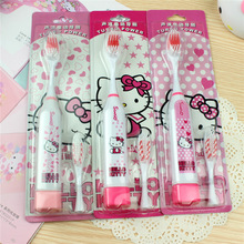 1pc Kitty Hello Health Electric Toothbrush KT Cartoon Children Sound Wave Electric Toothbrush