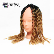 "16""inches Ombre Crochet DIY Braids Eunice Hair Extensions Kanekalon Synthetic Braiding Hair Afro Kinky Twist OUT (1b/27/350)(China)"