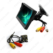 5 inch Digital Windshield LCD Monitor With CCD Reversing Backup Camera Car Rear View System #FD-3831