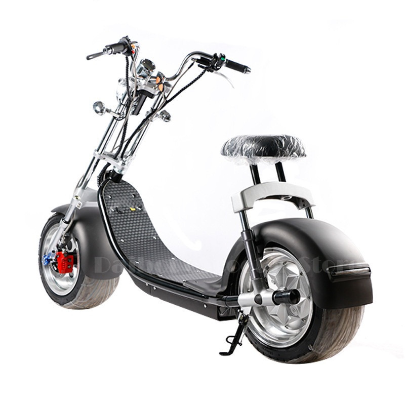 Electric Scooter Citycoco Two Wheels Electric Scooters Big Wheels 60V 1000W Harley Electric Scooter With Seat (5) -