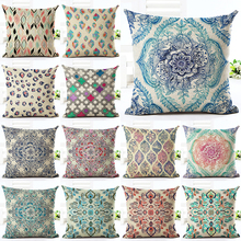 2016 Geometry Printed Bohemia Style  Linen Square Home Decor Homeware Modern Sofa Bed Throw Pillowcase
