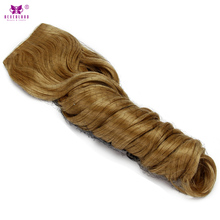 Neverland Wavy Curly 5Clip Synthetic Hair Extensions 22inch 55cm One Piece Natural Clip In Hairpiece Hair Piece 27# Honey Blonde