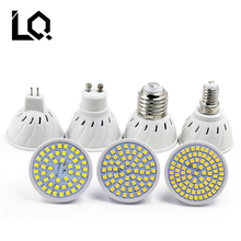 Factory Price LED Spotlight GU10 E27 MR16 E14 GU5.3 Led Lamp 220V 3528SMD 48 60 80 Leds cool White BULB Warm White LED Lighting