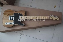 Top quality  New style Arrival Natural wood color telecaster  Electric Guitar Black tipping in stock    @1
