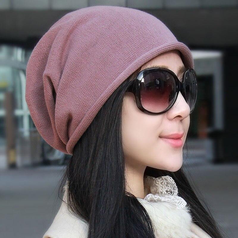 14 colors 2017 famous Brand  Knit Mens Womens Baggy  Oversize Winter Warm Hat Ski Slouchy  Crochet Knitted Cap 100% cottonÎäåæäà è àêñåññóàðû<br><br><br>Aliexpress