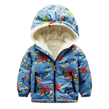 Baby Boys Jackets 2017 Brand Kids Winter Jackets Boys Clothes Hooded Wollen Pattern Children Outerwear Girls Parka Coat )